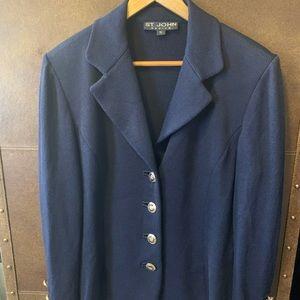 St. John Basic Navy Blue Knit Blazer